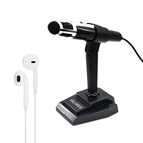 VAlinks® A04 3.5mm Plug and Play Computer Microphone Smartphone Recording Mic with a aux Port for Headsets for Laptop,Iphone,Samsung Skype,FaceTime,Youtube,Microsoft Cortana (with in-Ear Headphones) by VAlinks