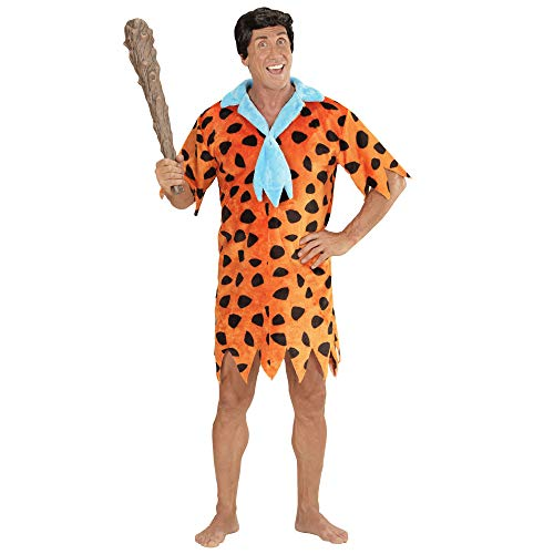 Feuerstein Fred Kostüm - Widmann 05803 - Erwachsenenkostüm Stoneage Man, Tunika mit Krawatte