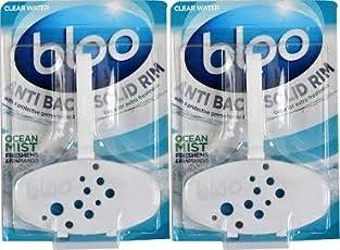 Bloo Solid Rim Toilet Block Complete Ocean Mist - Combi Pack of 2