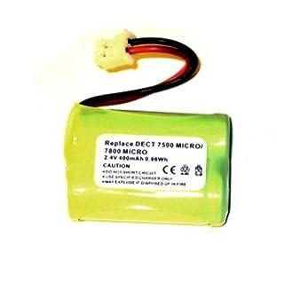 Nicht Fuer Babyphone mbp16 Akku für Audioline DECT 7500 Micro, 7800 Micro, GP T438, cs-adl780cl, NiMH, 2,4V, 400mAh