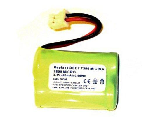 Akku für Audioline DECT 7500 Micro, 7800 Micro, GP T438, cs-adl780cl, NiMH, 2,4V, 400mAh