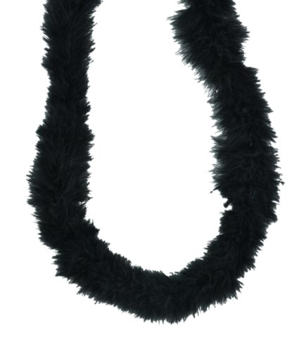 Black Marabou Feather Boa 72