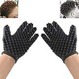 Hair Sponge Brush INTVN,Hair Sponge Gloves,Curls Coil Magic Tool,New Double Side Two in