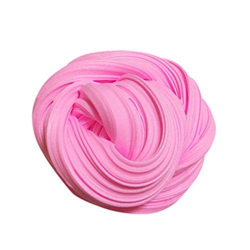 Preisvergleich Produktbild Goodsatar Fluffy Floam Slime Putty Duft Stress Relief Kein Borax Kinder Spielzeug (A, Rosa)