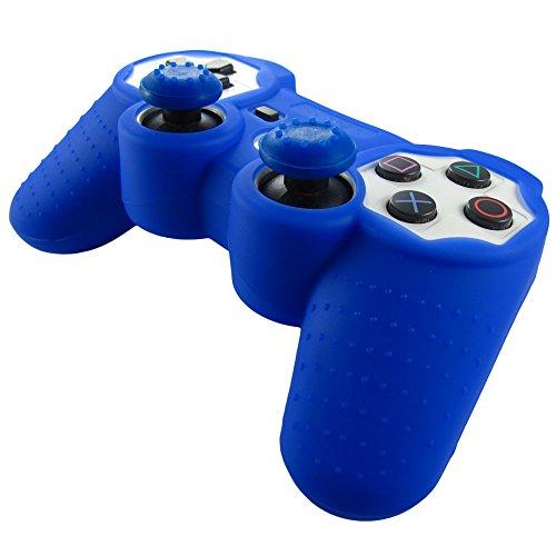 pandaren-piel-silicona-para-mando-de-ps3-azul-oscuro-pulgar-thumbstick-tapa-palo-agarre-x-2