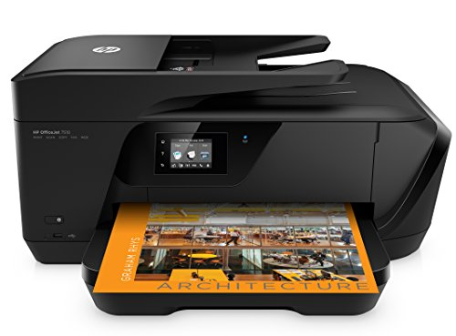 HP OfficeJet 7510 Stampante All-In-One per Grandi Formati con Funzioni Stampa, Copia, Scansione e Fax, 4800 X 1200, Nero
