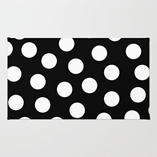 Poppylife schwarz und weiß Punkte Teppich Badezimmer Küche Front Tür Mats Capet, 05, 16