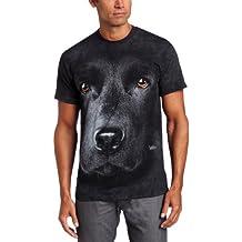 The Mountain Unisex Erwachsen Gr. L Schwarzer Labrador Hundegesicht T Shirt