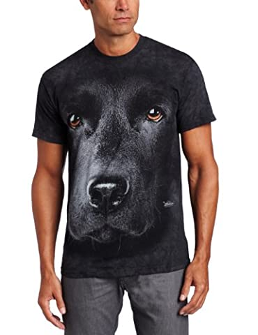 The Mountain Men's Black Lab Face T-shirt, Black, Large