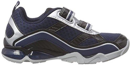 Geox J Light Eclipse 2 Bo, Sneakers Basses garçon Bleu (C0673)