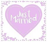 Always Amore® Hochzeitsherz zum Ausschneiden, hochwertiger Stoff mit extrastarken Schlaufen, Hochzeitsbrauch, Hochzeitsgeschenk mit Herzmotiv, Laken für Braut und Bräutigam mit idealem Design für tolle Fotos, Flieder