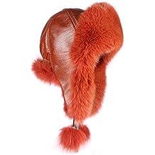 Mujer pelo – Gorro de zorro piel Gorro de aviador Invierno Gorro Gorro de esquí  Fox 90575555875