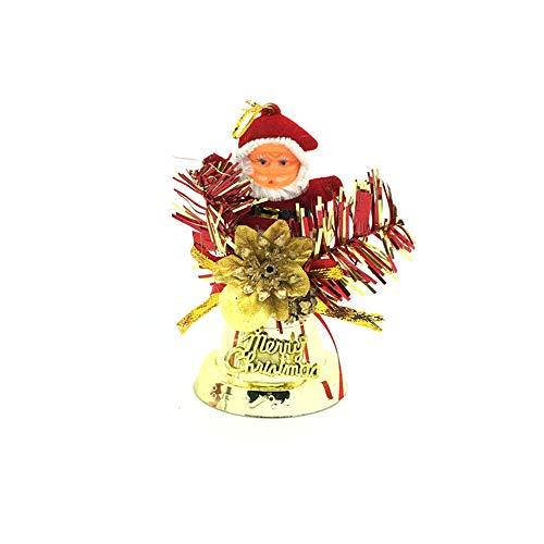 Mitlfuny Weihnachten Home TüR Dekoration 2019,1 STÜCKE Home Party Weihnachtsmann AnhäNger Dekoration ()