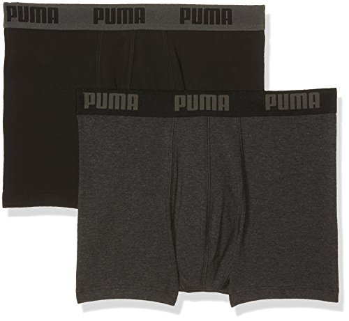 Puma Herren Boxershorts, Uni Dark Grey Melange/Black