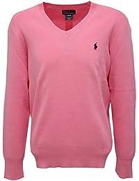 7765R maglione bimbo RALPH LAUREN rosa cotone sweater kid
