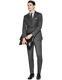 Dressvip Costume Homme pour Mariage Couleur Unie Gris Elégante Deux Boutons  Slim Fit Deux Pièces Pantalon 2c84feeacf3