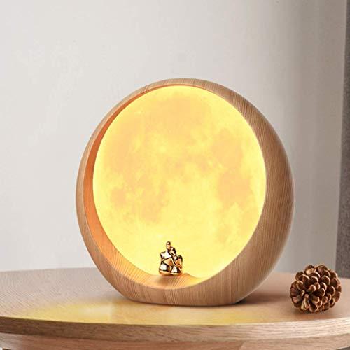 Wirtshaus-tisch (SED Tischlampe, Haushalt Schreibtischlampe, Vollmondlampe Led Mondnachtlicht Stimmungslicht Kreativer Schlafsaal College Tischlampe mit USB Aufladung Mondlicht Geschenk Lernen Nachttischlampe)