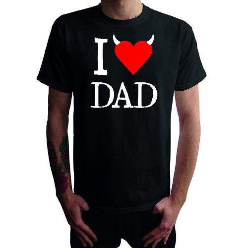 I don't love Dad Herren T-Shirt Schwarz