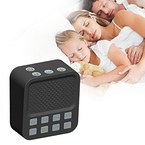 Máquina de Ruido Blanco del sueño Terapia de Sonidos Naturales relajantes para el bebé Oficina Configuración del Temporizador de relajación USB Alta fidelidad Sonido Dormir Teléfono móvil