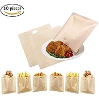 Qincling - Bolsas para tostadoras (10 Unidades, antiadherentes, Reutilizables, para tostadoras de Queso, sándwiches, Pollos, silbatos, panini)