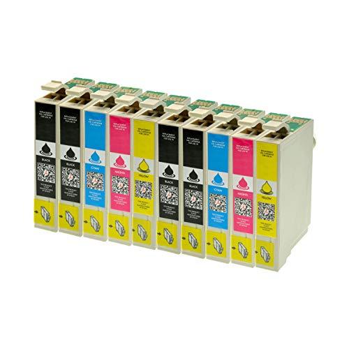 10 Tintenpatronen für Epson T1811 T1812 T1813 T1814 XL-Inhalt - 4X Schwarz je 18ml, 2X je C,M,Y je 14ml - Druckerpatronen für Epson Expression Home XP30 XP102 XP202 XP205 XP302 XP305 XP402 XP405
