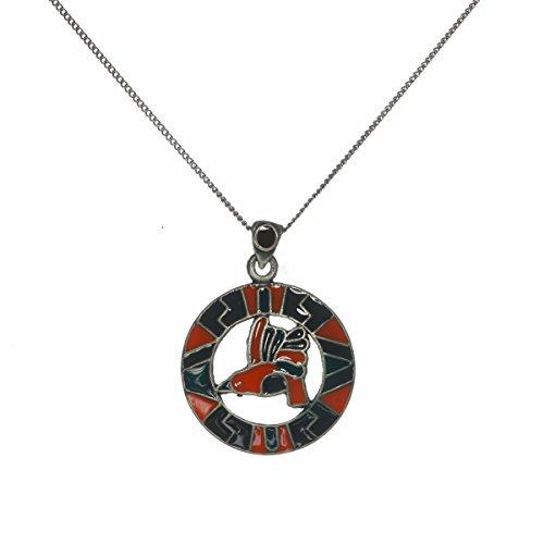 Huitzilo Kolibri Emaille Azteken Purity Talisman Anhänger Halskette (Figuren Aztec)