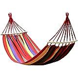 Pithadai Group Cotton Fabric Canvas Ultralight Portable Travel Hammocks with Hardwood Spreader Bar Tree Hanging (Multicolour)