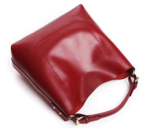 Tibes Sacchetti BorseInPelle Borsa Donne Borse Cartella Sucuola Donne Borse A Tracolla Sacchetto Delle donne Vino rosso