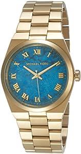 Michael Kors MK5894 - Reloj con correa de piel para mujer, color azul / gris de Michael Kors