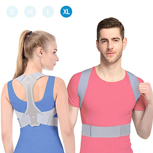 Haltungskorrektur ANOOPSYCHE Geradehalter Schulter Rückenstütze Entworfen von Deutschen Designer, ideal zur Therapie für haltungsbedingte Nacken, Rücken und Schulterschmerzen für Damen und Herren XL