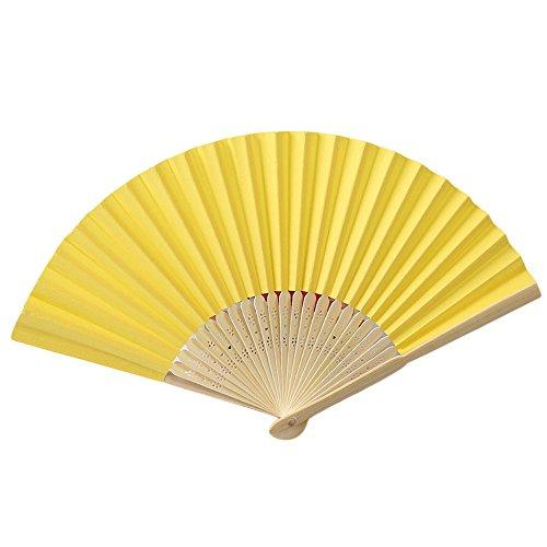 Andouy Retro Faltfächer/Handfächer/Papierfächer/Federfächer/Sandelholz Fan/Bambusfächer für Hochzeit, Party, - Kostüm Seattle