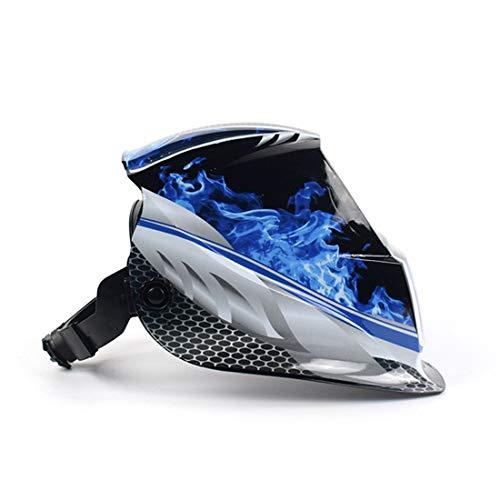 UICICI Solar Automatische Photoelektrische Schweißmaske Helm Argon Arc Schweißhelm Zarte Aufkleber Muster Schutzhelm (Pattern : Blue Light)