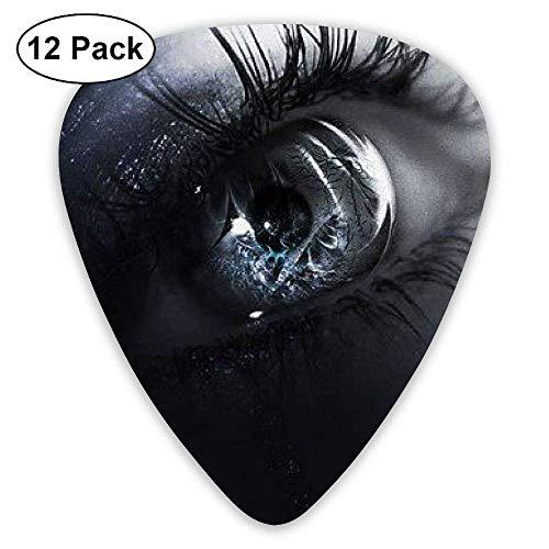 Black Gothic Rare Stylish Novelty Eye Guitar Pick 12pack