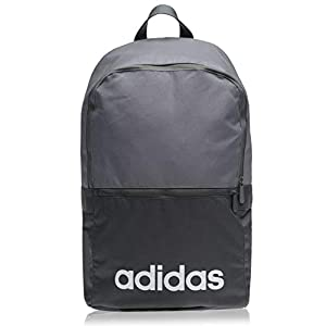 Adidas Lin CLAS BP Day Sports Backpack, Unisex Adulto, Black/Black/White, NS