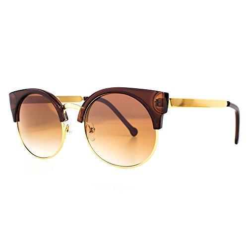 DISTRESSED Pucci Shades Vintage Cateye Retro Sonnenbrille braun