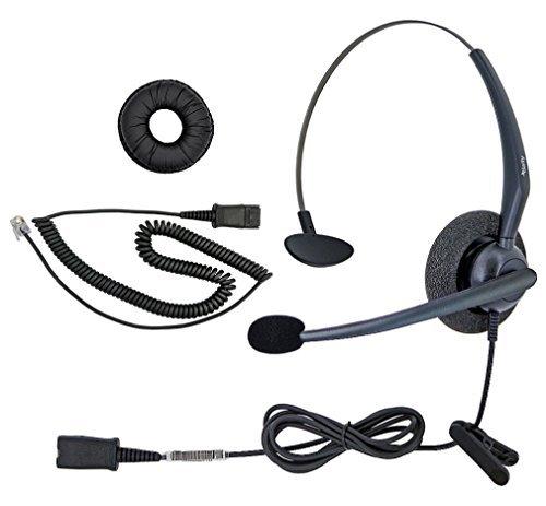 dailyheadset RJ9NC Mono Office Phone Corded Headset für Analog Business IP Office Festnetztelefon, Aastra AltiGen Avaya Digium Mitel Nortel Meridian Polycom shoretel Paket 8TalkSwitch Meridian 1 Pbx