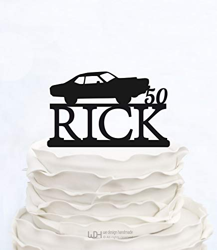 Andrea1Oliver 50 Jahre Loved_Classy 50. Geburtstag Cake Topper_Anniversary Topper_Elegant Achtzigster Cake Topper_CAR Cake Topper mit Nachname_Zelebration