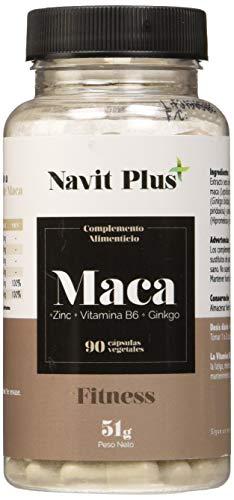 Maca. Extracto de maca con L-Arginina, Zinc, Ginkgo y Vitamina B6. 90 cápsulas vegetales. Maca andina pura concentrada. Bueno para el aumento de masa muscular.2 cápsulas día.Tratamiento hasta 3 meses.