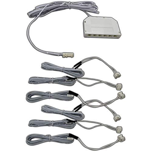 G4 / GU4 Sockel mit 200cm / 2 Meter Anschlusskabel mit Verteilerbox Verteiler Adapter - Amp-adapter-kabel
