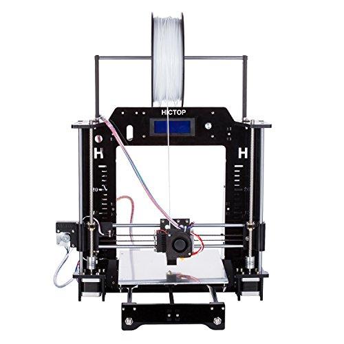 24V kit stampante HICTOP Prusa I3 desktop 3D telaio in acrilico personali auto-assemblaggio della macchina [3DP-08] (Nero)