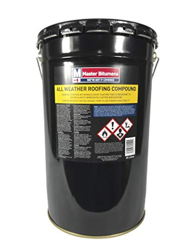 ALL WEATHER ROOFING COMPOUND BITUMEN WATERPROOF ROOF COATING 25 LITRE Test