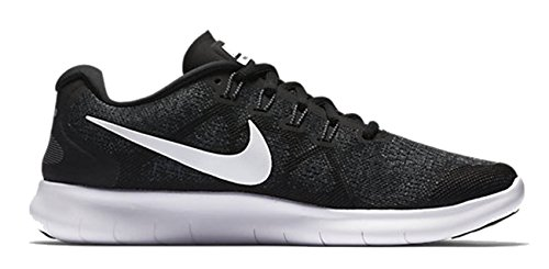 Nike Women's Free Rn 2 Running Shoe, Chaussures de Fitness Femme Noir (Black/white/dark Grey/anthraci)