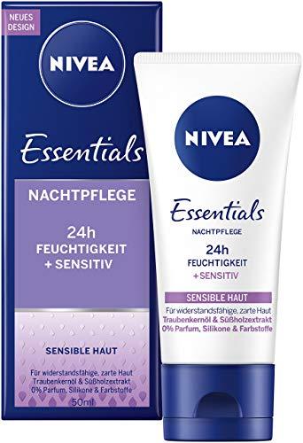 htpflege im 1er Pack (1 x 50 ml), parfümfreie Nachtcreme für sensible Haut, Feuchtigkeitscreme mit Traubenkernöl & Süßholzextrakt ()