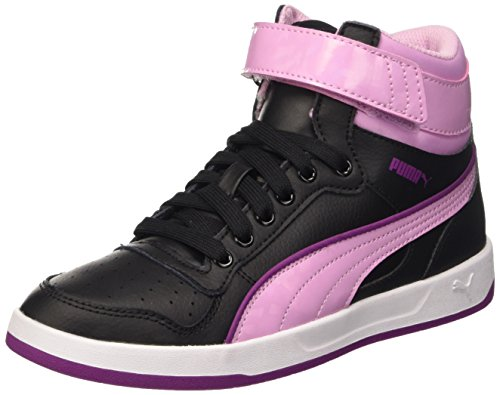 Puma Jr Liza Mid Dazz Baskets Mode Noir/Pastel Lavender 3,5