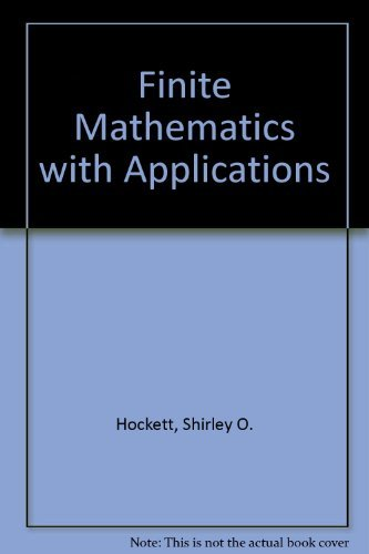Finite Mathematics With Applications by Martin Sternstein (1984-04-02)