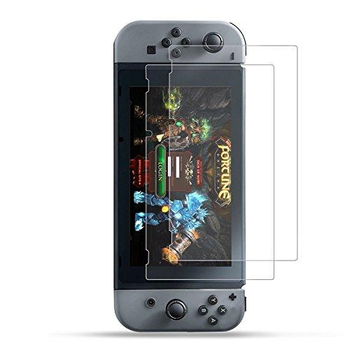 [2-Unidades] 2017 Nintendo Switch Protector de Pantalla Hepooya Ninten