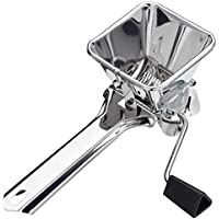 "KitchenCraft Stainless Steel Rotary Herb Mill / Mint Cutter, 19 x 6.5 x 6.5 cm (7"" x 2.5"" x 2.5"")"