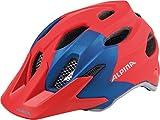 Alpina Kinder Carapax Fahrradhelm, Red/Blue, 51-56 cm