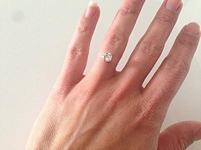 Bague strass brillant swarovski cristal solitaire sur fil de nylon transparent, mariage, soirée