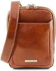 Tuscany Leather Mark Borsello da uomo in pelle Miele